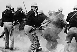 Alabama state troopers attack civil-rights demonstrators outside Selma, Alabama, on Bloody Sunday, March 7, 1965.